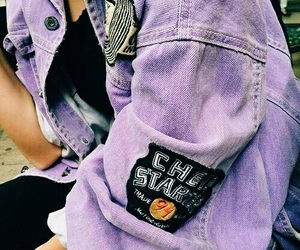 purple, fashion, and jacket image