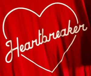 red, heart, and heartbreaker image