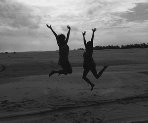 best friend, best friends, and black and white image