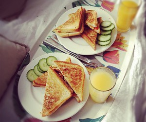 breakfast, cucumber, and food image