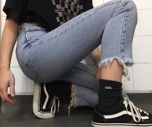 vans, jeans, and aesthetic image