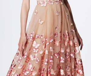 beautiful, butterfly, and dress image