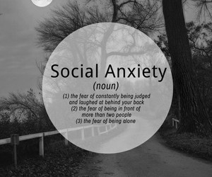 anxiety, social anxiety, and alone image