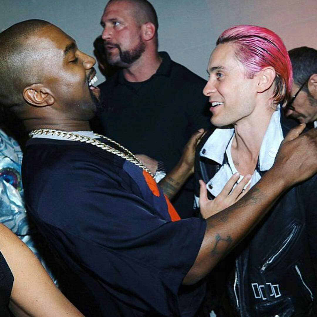 30 seconds to mars, jared leto, and kanye west image