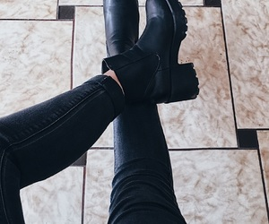 beauty, black, and boots image