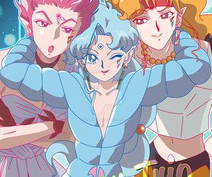 sailor moon and amazon trio image