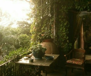 balcony, nature, and quotes image