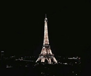 aesthetic, eiffel tower, and dark image