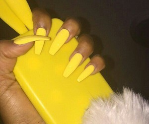 case, nails, and yellow image