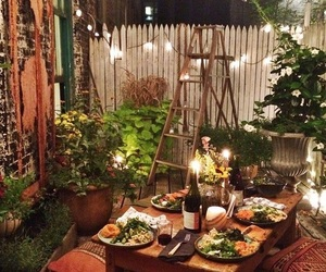 dinner and romantic image