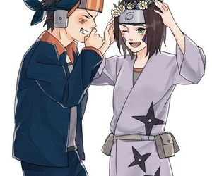 naruto, tobi, and rin image