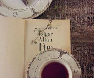 book, tea, and chocolate image