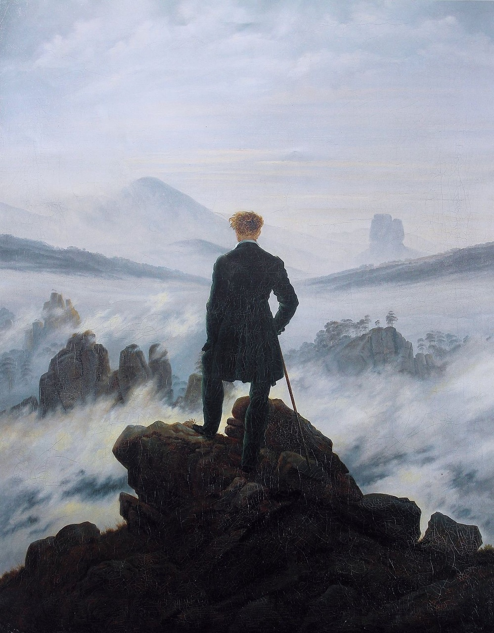 caspar david friedrich, romanticism, and Wanderer Above the Sea of Fog image