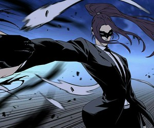 anime, noblesse, and black mask image