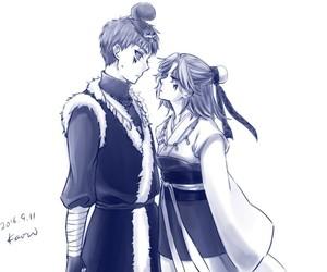 akatsuki no yona, shin ah, and abi image