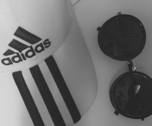 adidas, aesthetic, and black and white image