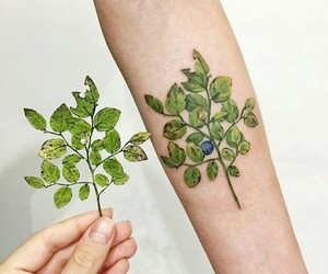 tattoo and plants image