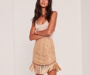 lace, mini skirt, and tassel image