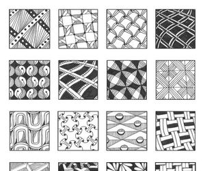 doodle, patterns, and tangle image