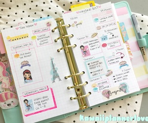 kawaii, organize, and pink image