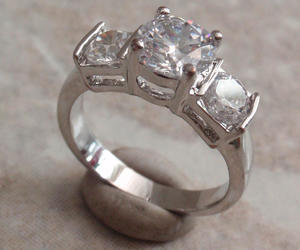 costume jewelry, cubic zirconia ring, and etsy image