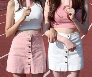 pink, clothes, and friends image