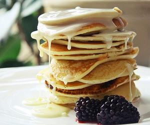 pancakes, food, and yummy image