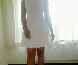 dress, style, and white+dress image