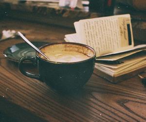 bread, breakfast, and cappuccino image