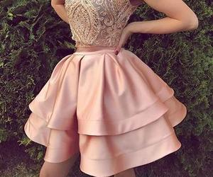 pink homecoming dresses, short prom dress, and a-line homecoming dresses image
