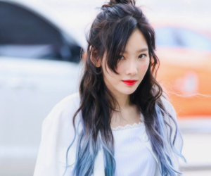 asian, blue hair, and fashion image