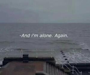 alone, sad, and again image