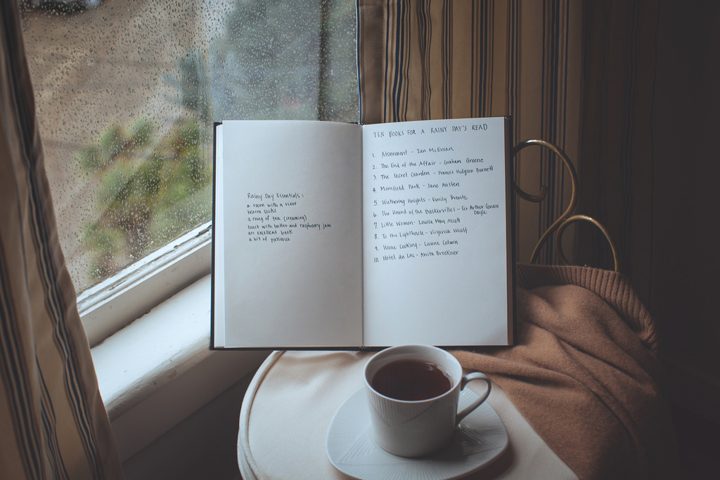 A rainy day reading list on We Heart It
