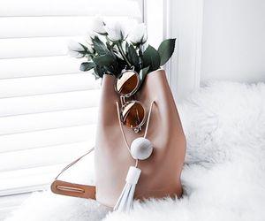 flowers, bag, and fashion image