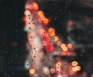 rain, light, and city image