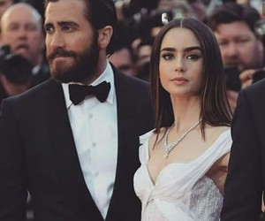 lily collins, couple, and actor image