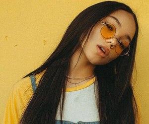 yellow, girl, and aesthetic image
