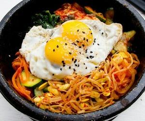 food, korean food, and korean image