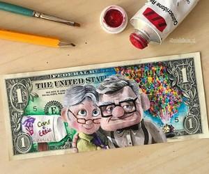 art, disney, and dollar image