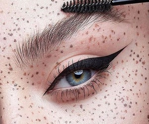 beauty, blue eyes, and eye liner image