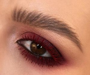 burgundy, makeup, and eyes dark image