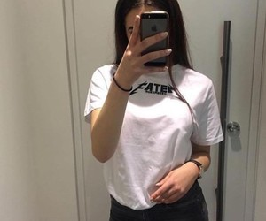 girl, outfit, and selfie image