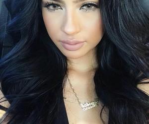 beauty, green eyes, and long hair image
