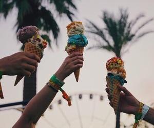 coachella, festival, and ice cream image