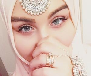 eyes, girl, and hijab image