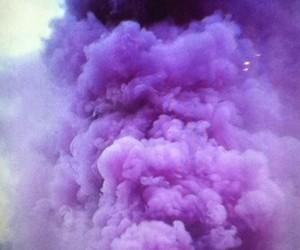 smoke, purple, and pink image