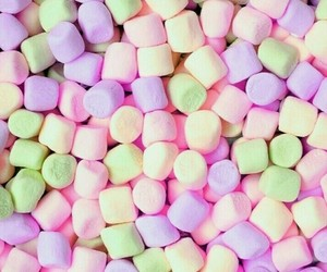 wallpaper, marshmallow, and colors image