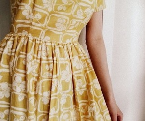 yellow, dress, and vintage image