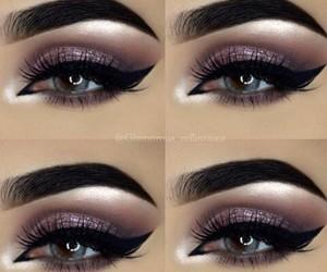 eye liner, eyelashes, and eyes image
