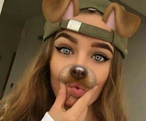 beauty, snapchat, and dogfilter image